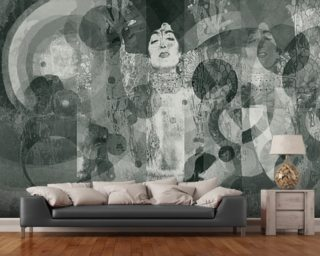 Crazy Grey Rose mural wallpaper