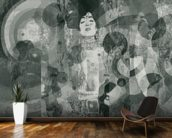 Crazy Grey Rose mural wallpaper kitchen preview