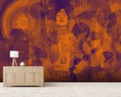 Crazy Lila Orange wall mural living room preview