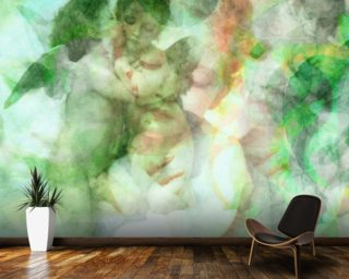 Softly Softly Skin Green Wall Mural Wall Murals Wallpaper