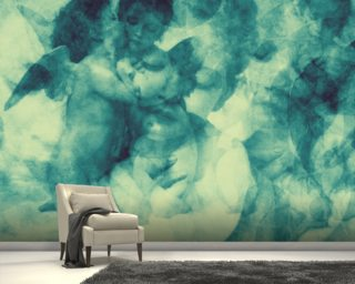 Softly Softly Turquoise Blue Mural Wallpaper Wall Murals Wallpaper