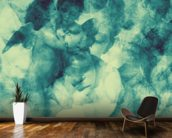 Softly Softly Turquoise Blue wallpaper mural kitchen preview