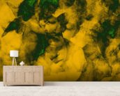 Softly Softly Mustard mural wallpaper living room preview