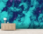 Softly Softly Turquoise wall mural living room preview
