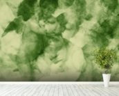 Softly Softly Lake Green wallpaper mural in-room view
