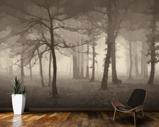 Delusion - Sepia Wall Mural Wall Murals Wallpaper