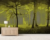 Delusion - Yellow wallpaper mural living room preview
