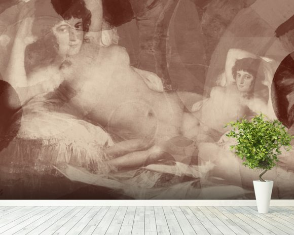 Goshen - Sepia mural wallpaper room setting