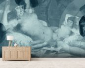 Goshen Blue wall mural living room preview