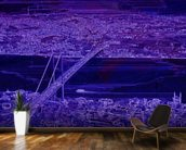 Panorama Bridge Purple wall mural kitchen preview