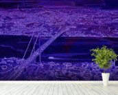 Panorama Bridge Purple wall mural in-room view