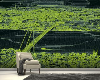 Panorama Bridge Skin Green wall mural