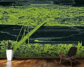 Panorama Bridge Skin Green wall mural kitchen preview
