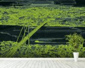 Panorama Bridge Skin Green wall mural in-room view