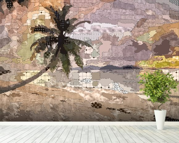 Seychelles Natural wall mural room setting