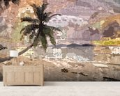 Seychelles Natural wall mural living room preview
