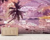 Seychelles Purple wallpaper mural living room preview