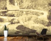 Past Time Paradise Sepia mural wallpaper kitchen preview