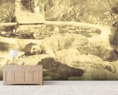 Past Time Paradise Sepia mural wallpaper living room preview