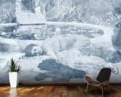 Past Time Paradise Light Blue wall mural kitchen preview