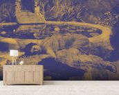 Past Time Paradise Prehistoric wallpaper mural living room preview
