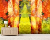 Tears in Heaven Yellow mural wallpaper living room preview