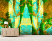 Tears in Heaven Green wall mural living room preview