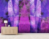Tears in Heaven Purple wallpaper mural living room preview