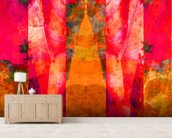 Tears in Heaven Red mural wallpaper living room preview