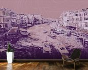 Venice - Pink mural wallpaper kitchen preview