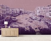 Venice - Pink mural wallpaper living room preview