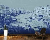 Venice - Blue wall mural kitchen preview