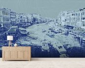 Venice - Blue wall mural living room preview