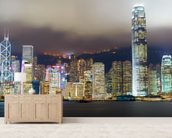 Hong Kong Skyline wall mural living room preview