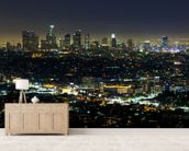 Downtown LA wall mural living room preview