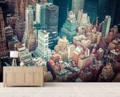 New York Downtown wallpaper mural living room preview
