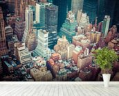 New York Downtown wallpaper mural in-room view