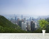 Victoria Peak Hong Kong wallpaper mural in-room view