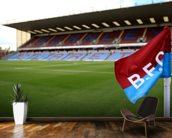Turf Moor and Corner Flag mural wallpaper kitchen preview