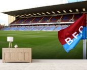 Turf Moor and Corner Flag mural wallpaper living room preview