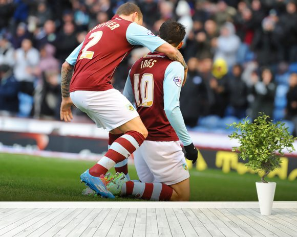 Ings Goal Celebration wallpaper mural room setting