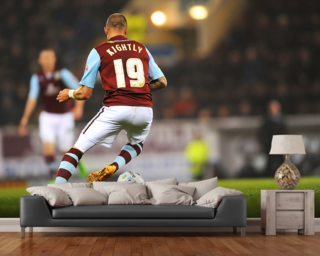 Michael Kightly on the Ball wall mural