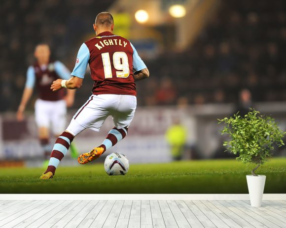 Michael Kightly on the Ball wall mural room setting