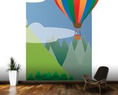 Balloon Ride in the Sky (2013) mural wallpaper kitchen preview