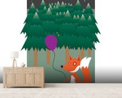 Fox in the Woods (2013) wall mural living room preview