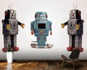 Robot Trio wallpaper mural kitchen preview