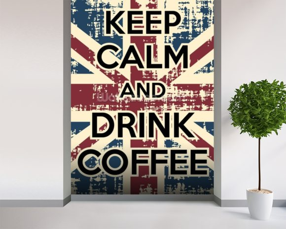Keep Calm mural wallpaper room setting