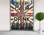 Keep Calm mural wallpaper in-room view