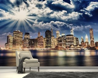Wall Paper Murals city wallpaper & skyline wall murals | wallsauce usa