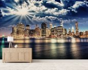 Lower Manhattan from Brooklyn wall mural living room preview